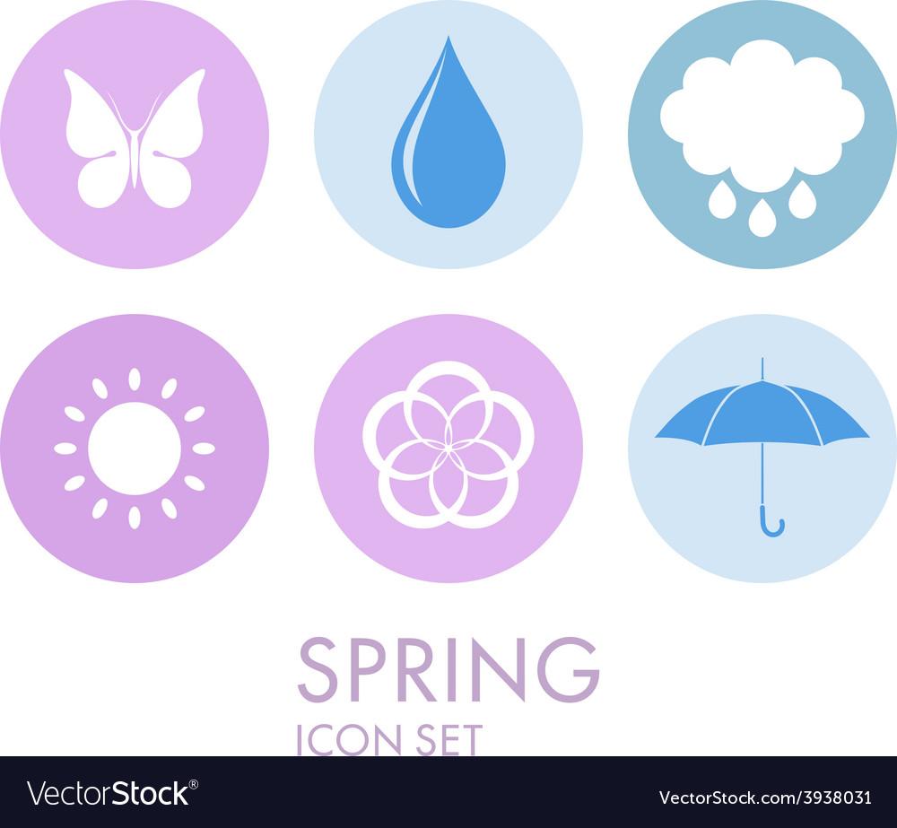 Spring icon set vector | Price: 1 Credit (USD $1)