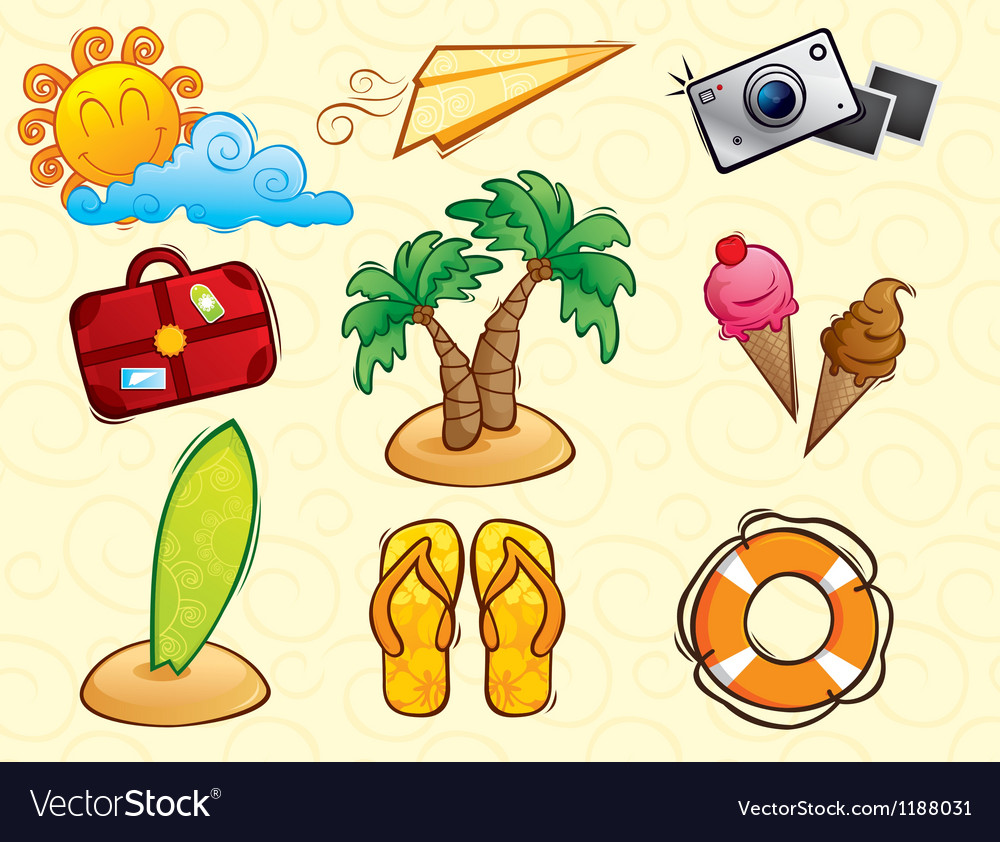 Vacation pack vector | Price: 3 Credit (USD $3)