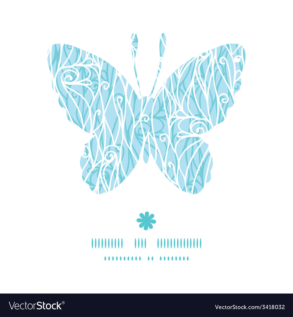 Abstract frost swirls texture butterfly silhouette vector | Price: 1 Credit (USD $1)