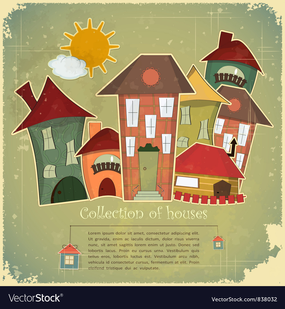 Collection of houses vector | Price: 1 Credit (USD $1)