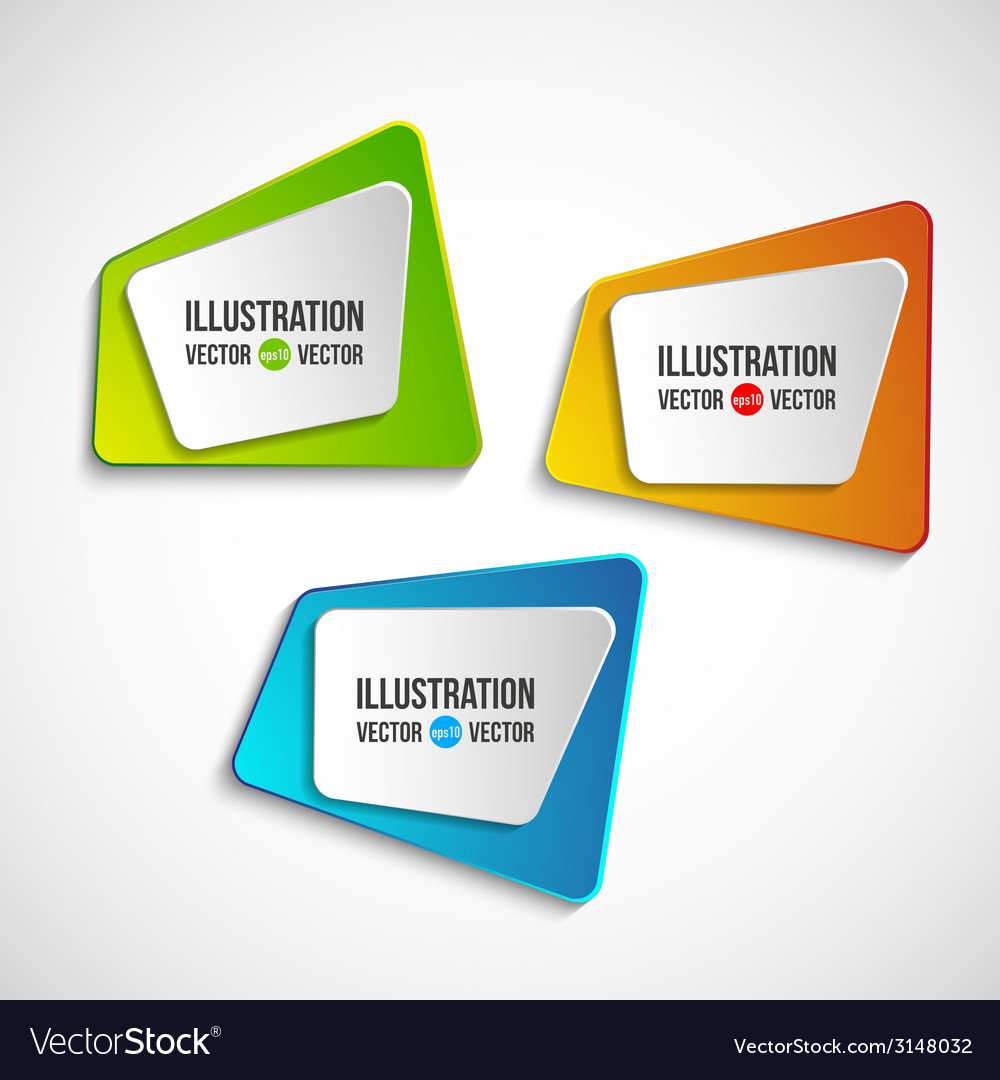 Origami banners set vector | Price: 1 Credit (USD $1)