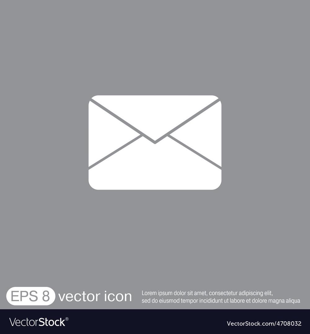 Postal envelope e-mail symbol icon envelope vector   Price: 1 Credit (USD $1)