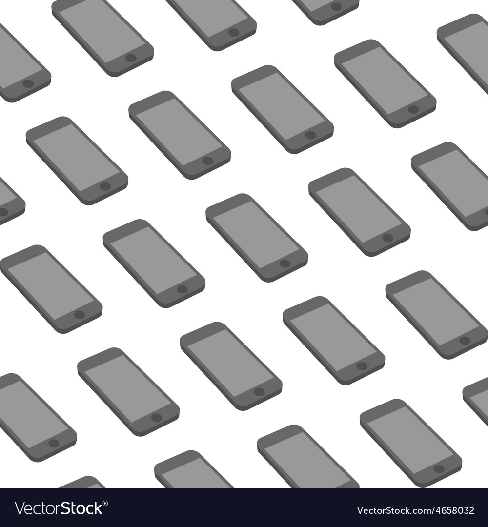 Seamless pattern with repeating smart phone vector | Price: 1 Credit (USD $1)