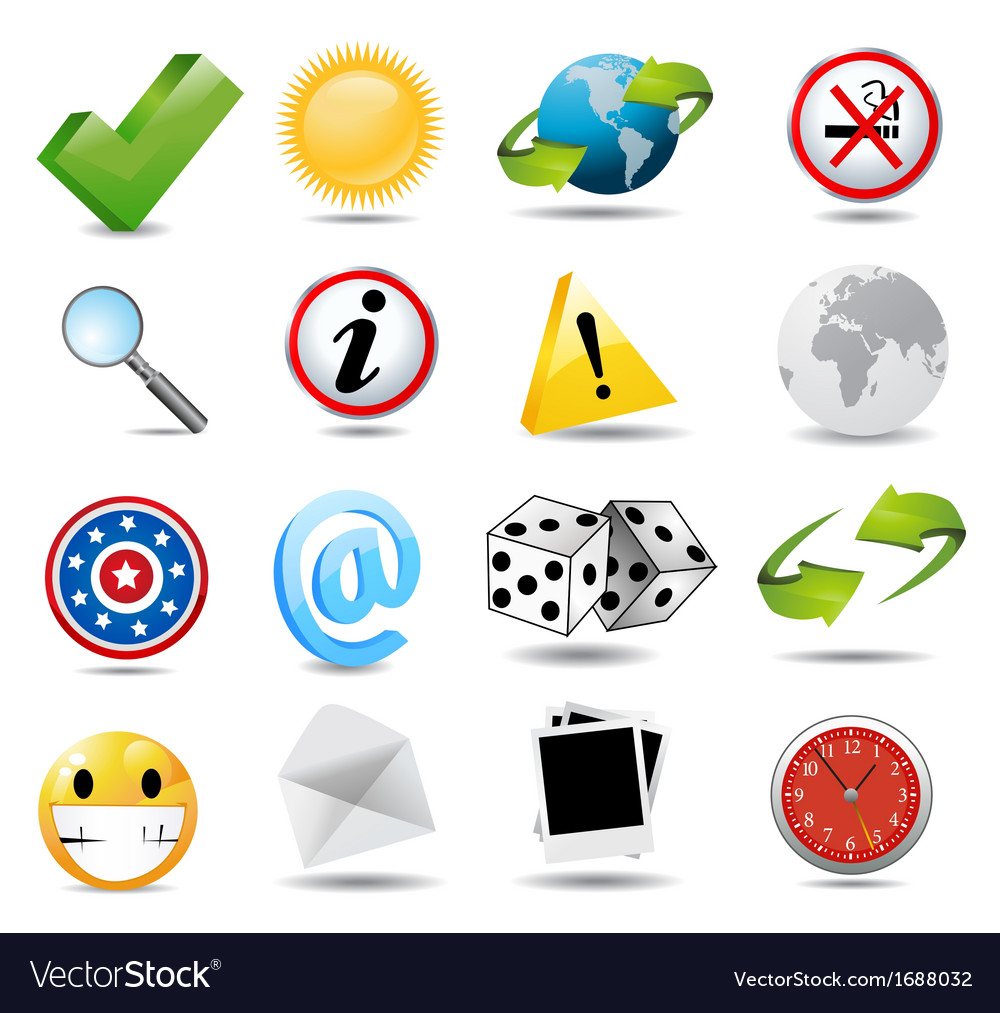 Set of miscellaneous icons vector | Price: 1 Credit (USD $1)