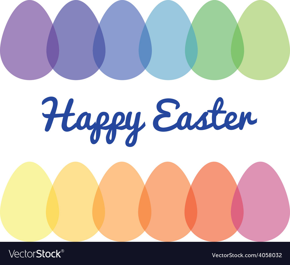 Transparent easter eggs vector | Price: 1 Credit (USD $1)