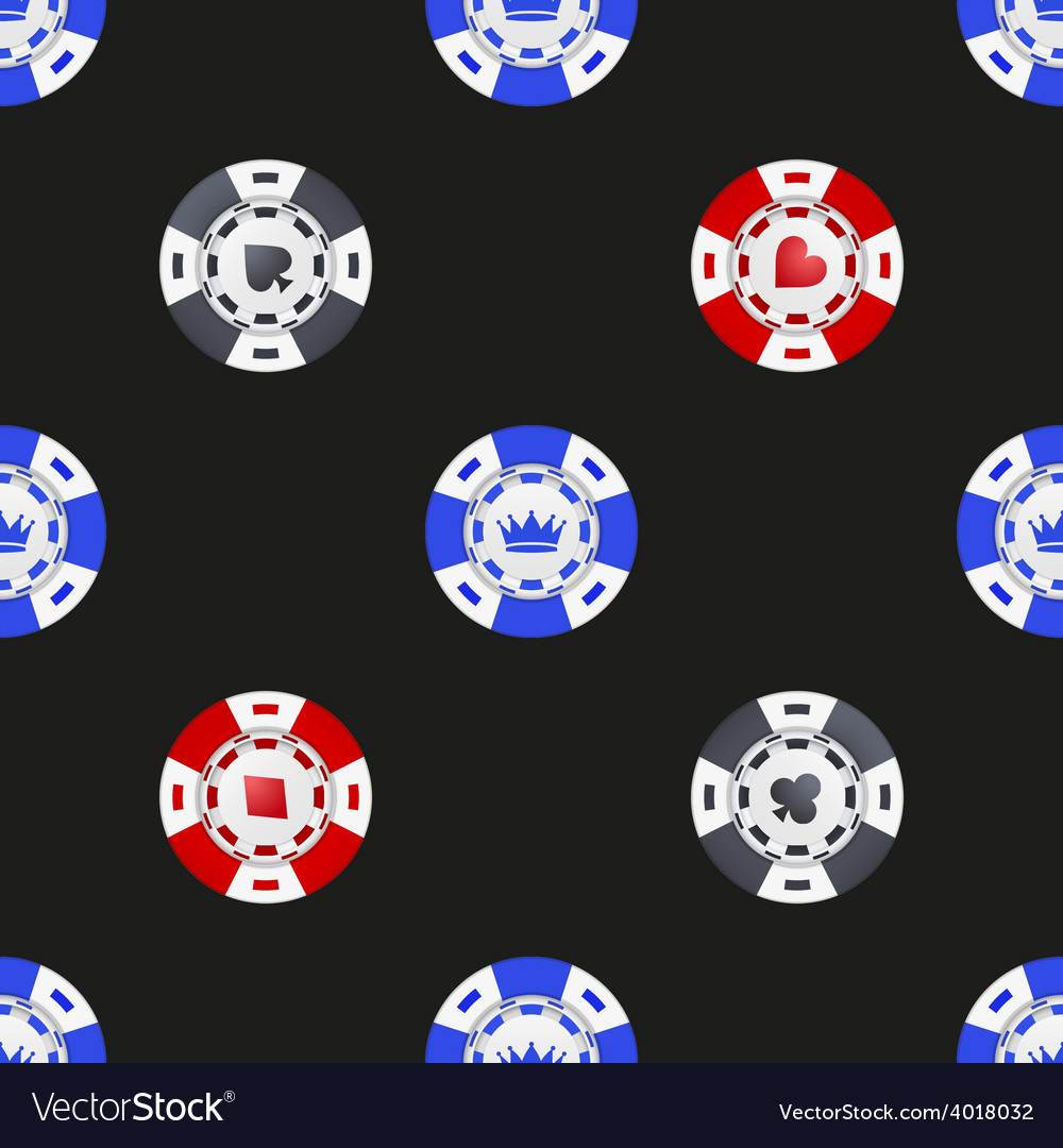 Universal casino chips seamless patterns vector | Price: 1 Credit (USD $1)