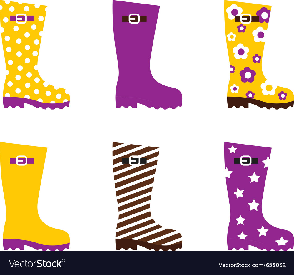 Wellington boots vector | Price: 1 Credit (USD $1)