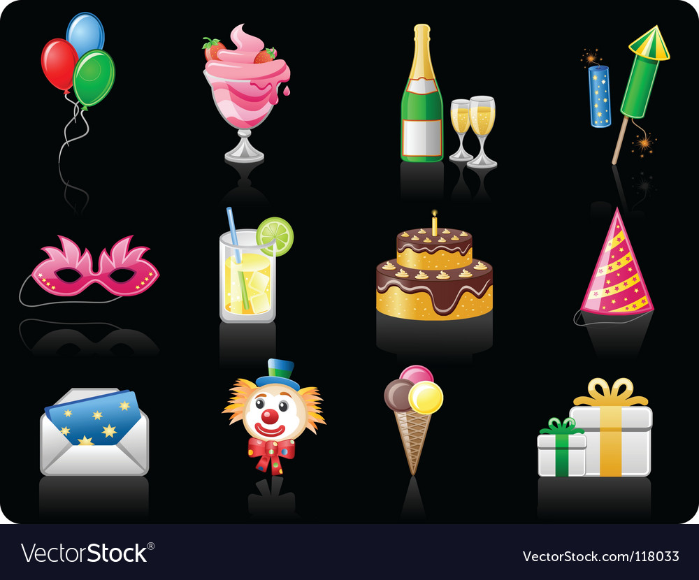 Birthday black background vector | Price: 1 Credit (USD $1)