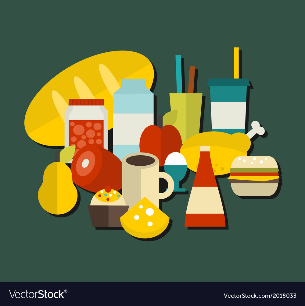 Food label vector | Price: 1 Credit (USD $1)