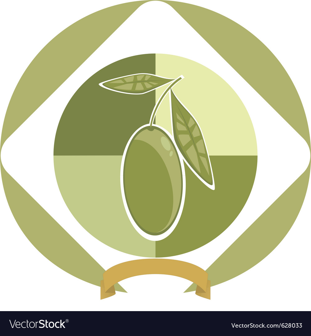 Olive label vector | Price: 1 Credit (USD $1)