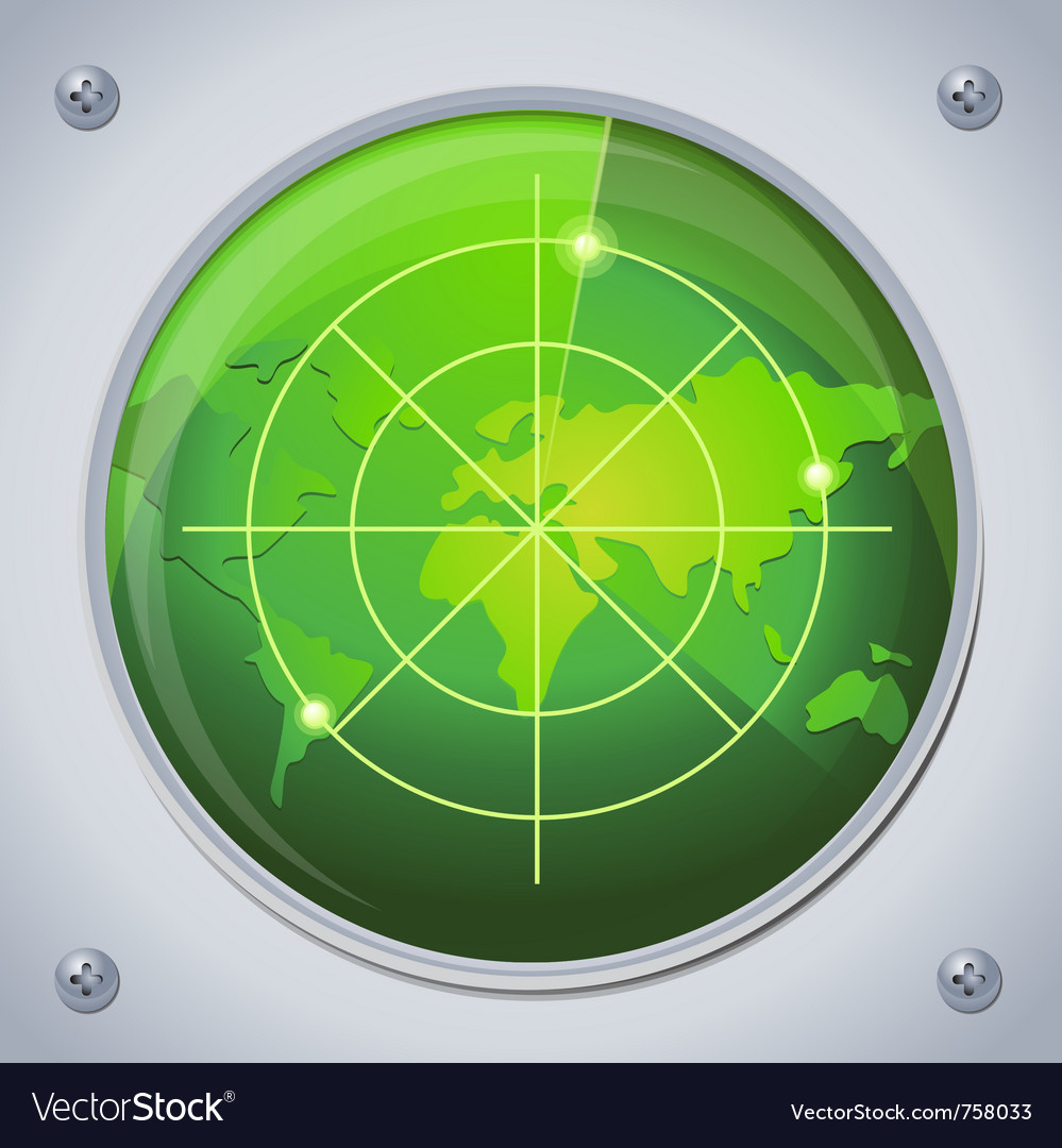 Radar in green color vector | Price: 1 Credit (USD $1)