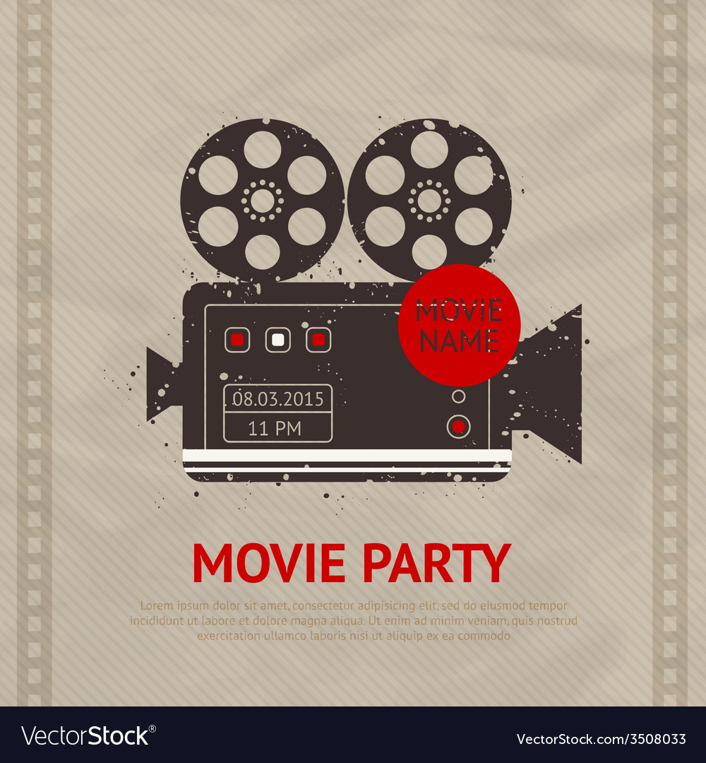 Retro movie poster vector | Price: 1 Credit (USD $1)