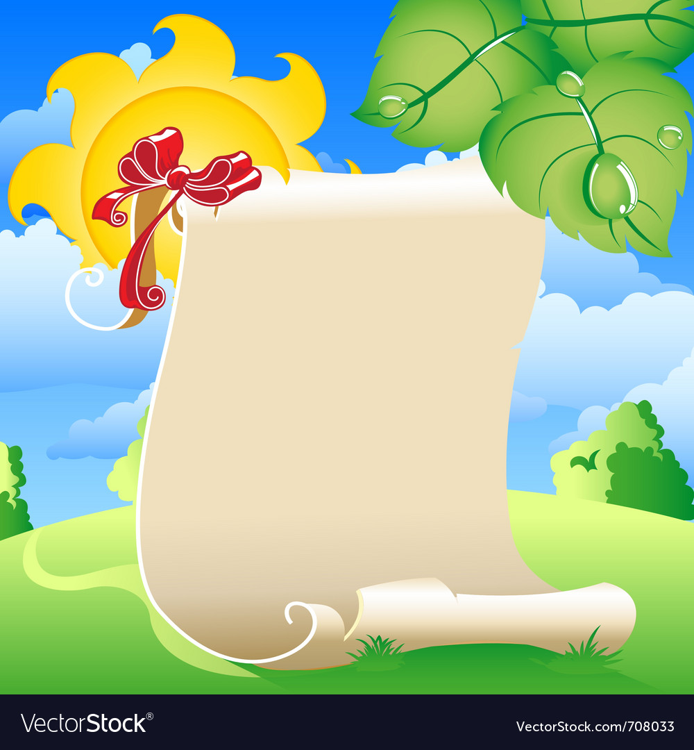 Scroll of old parchment vector   Price: 1 Credit (USD $1)