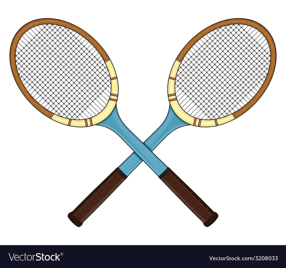 Teniski reket retro ukrsteno resize vector | Price: 1 Credit (USD $1)