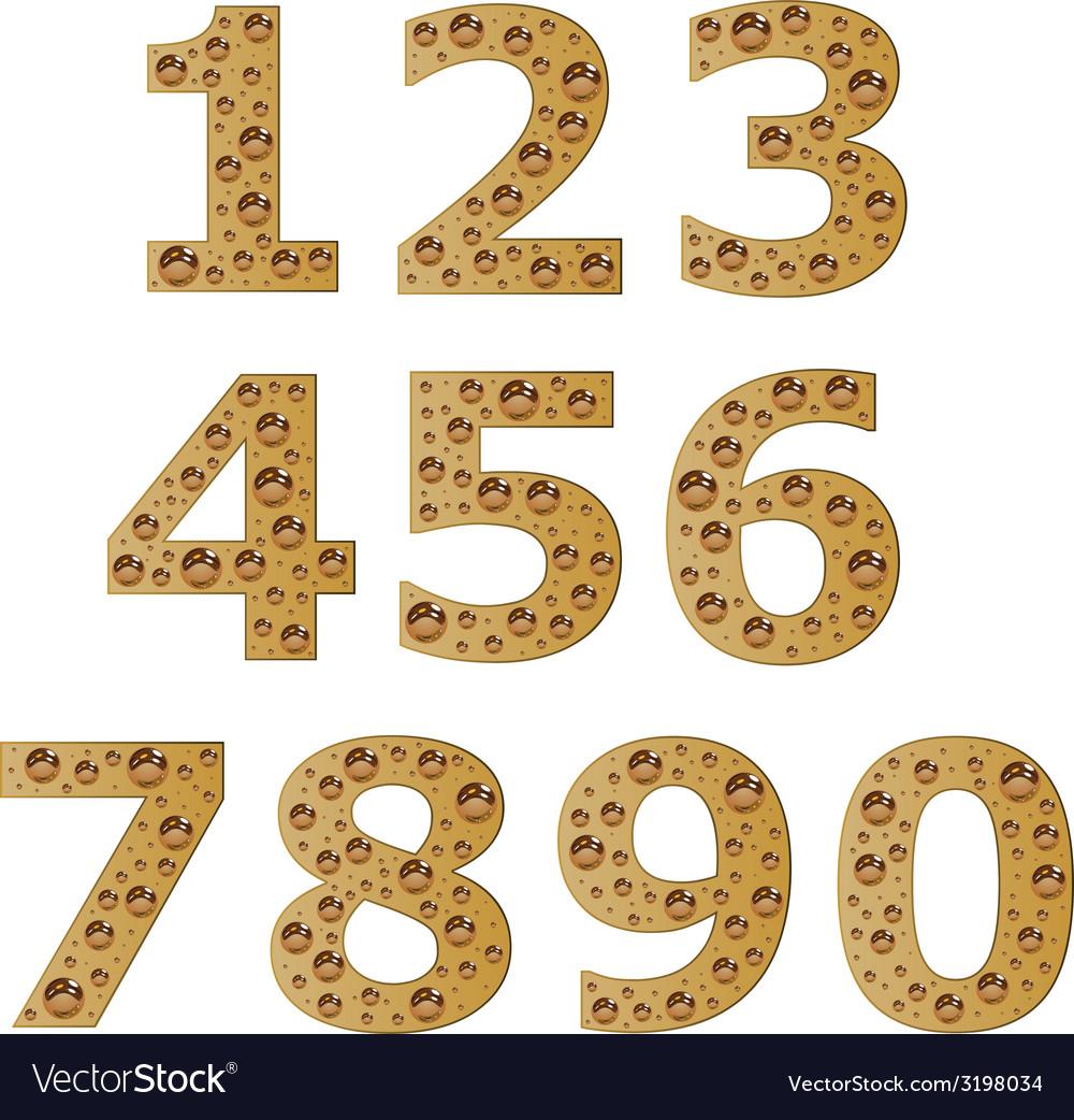 Bubble digits vector | Price: 1 Credit (USD $1)