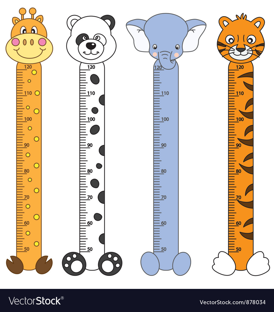 Children meter sticker wall vector | Price: 1 Credit (USD $1)