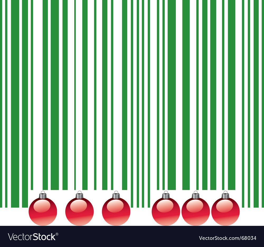 Christmas barcode vector | Price: 1 Credit (USD $1)
