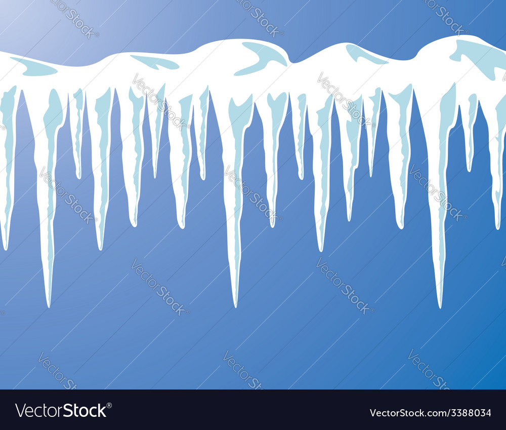 Icicles and snow vector