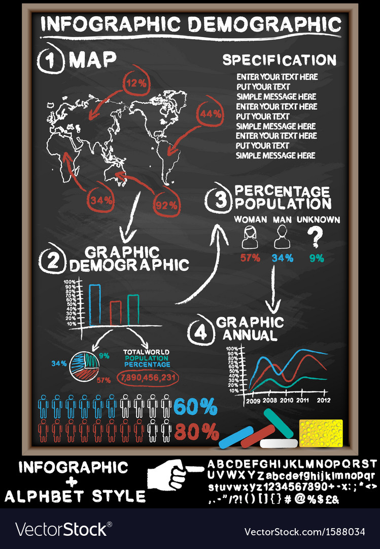 Infographic blackboard vector | Price: 1 Credit (USD $1)