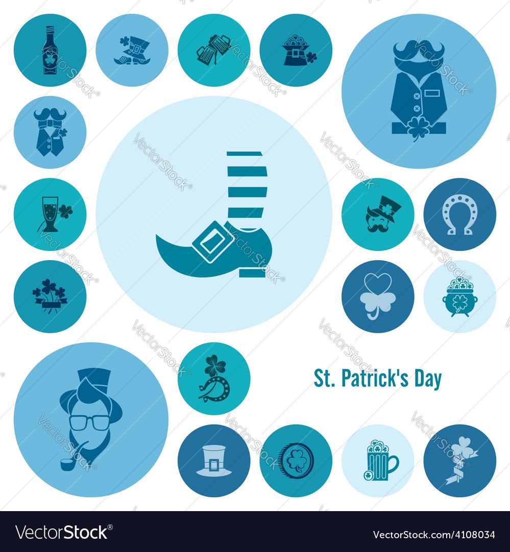 Saint patricks day icon set vector | Price: 1 Credit (USD $1)