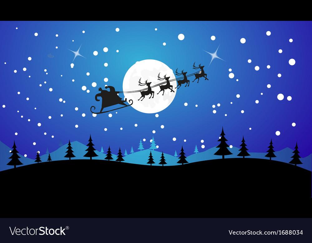 Santa delivering presents vector | Price: 1 Credit (USD $1)