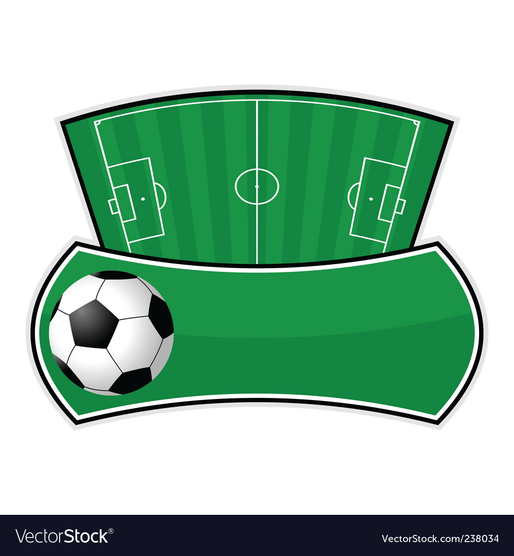 Soccer field shield vector   Price: 1 Credit (USD $1)
