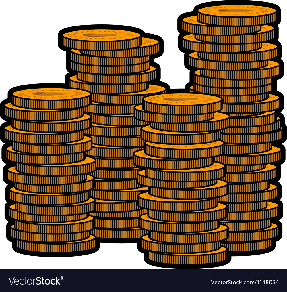 Stacks of coins vector | Price: 1 Credit (USD $1)