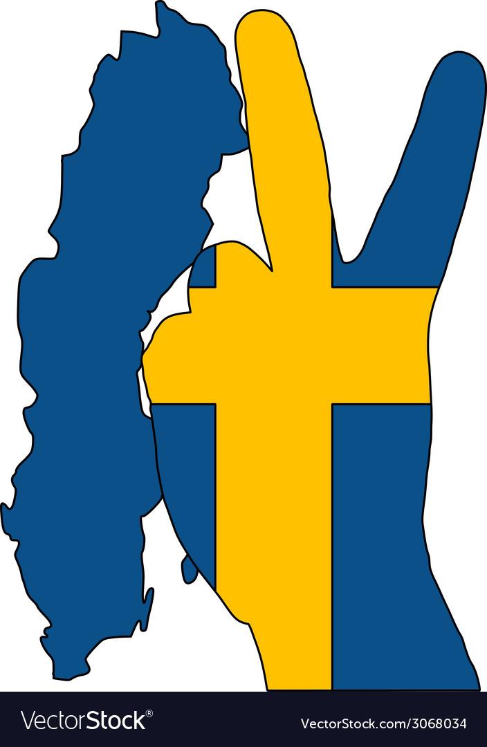 Swedish finger signal vector | Price: 1 Credit (USD $1)