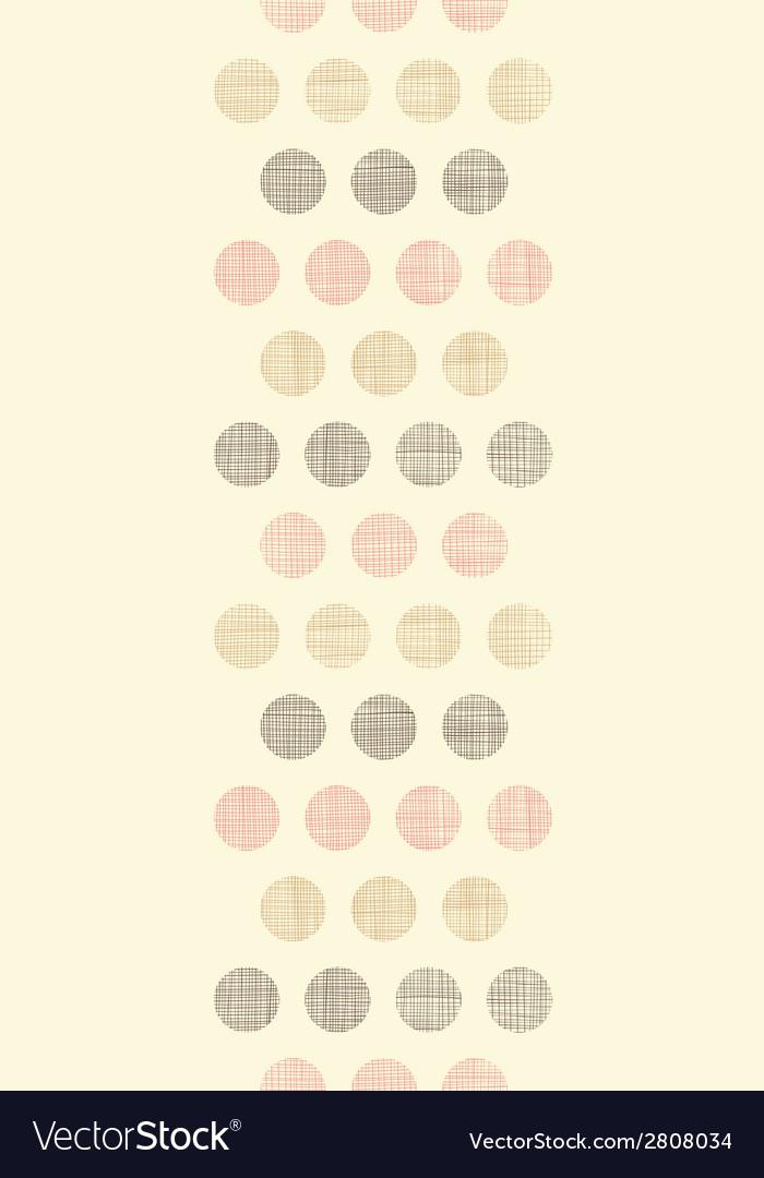Vintage textile polka dots vertical border vector | Price: 1 Credit (USD $1)