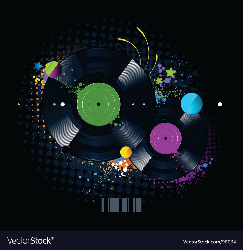 Vinyl disc graffiti vector   Price: 1 Credit (USD $1)