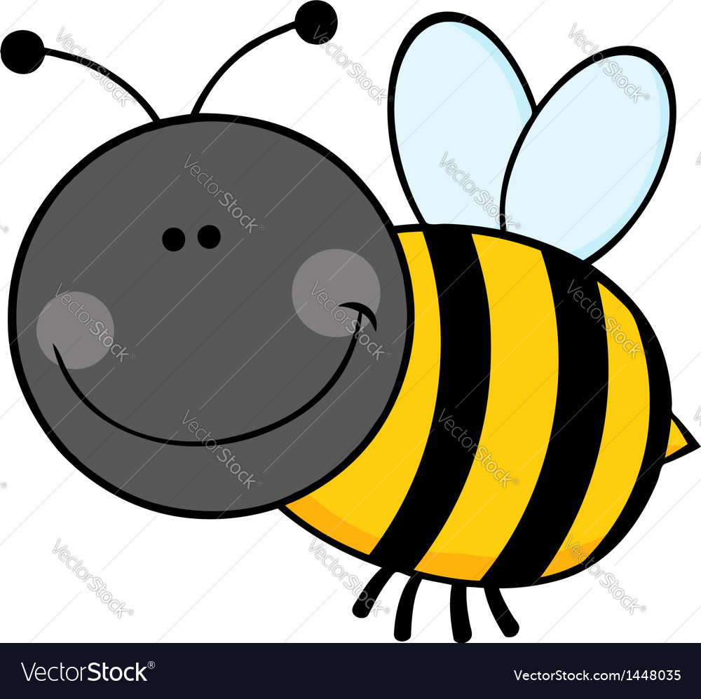 Bumble bee cartoon character flying vector | Price: 1 Credit (USD $1)