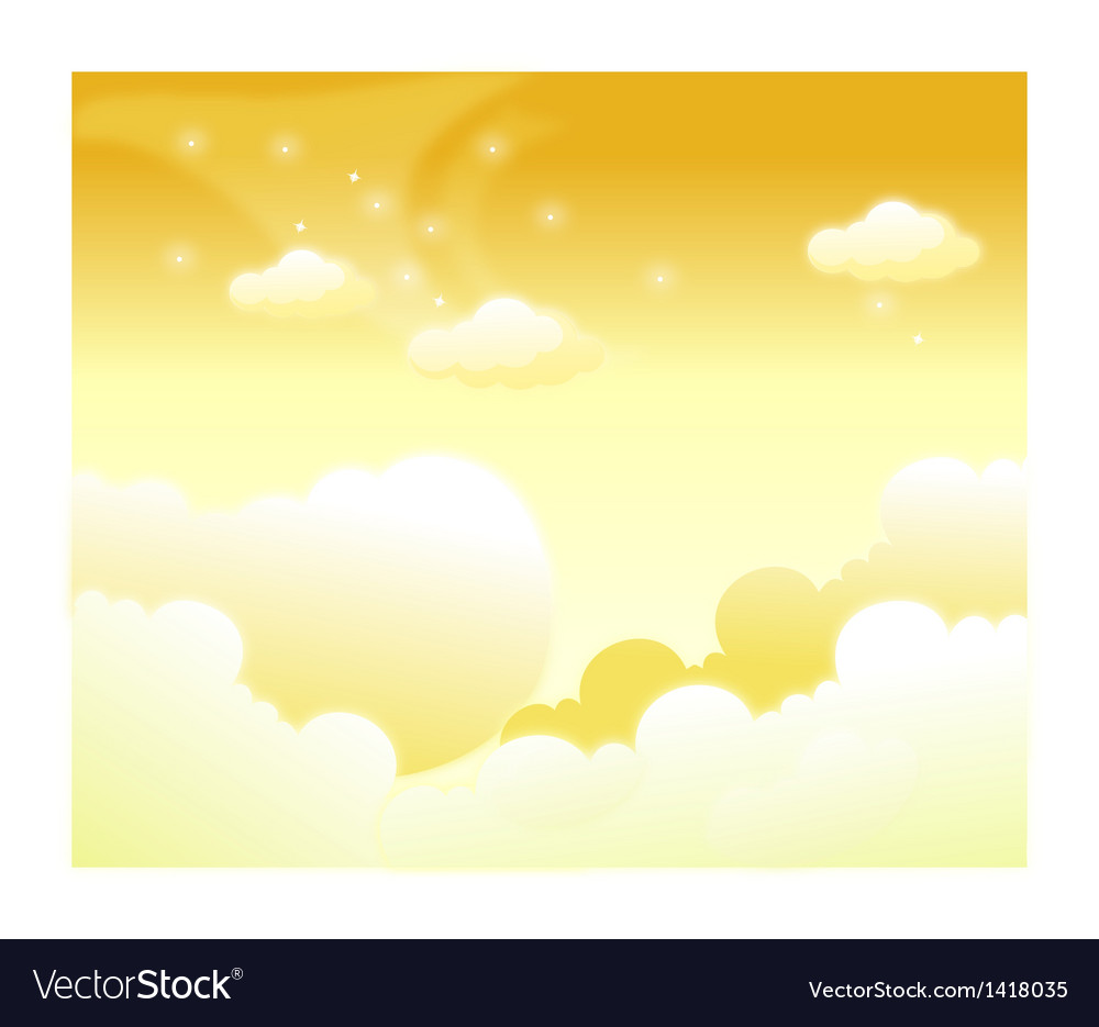 Clouds in sky vector | Price: 1 Credit (USD $1)