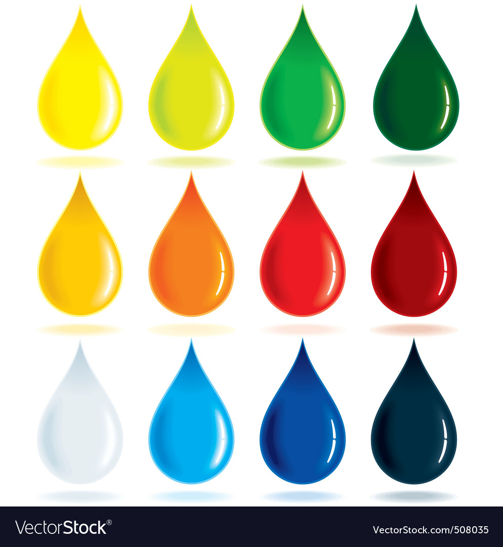 Colorful drops vector
