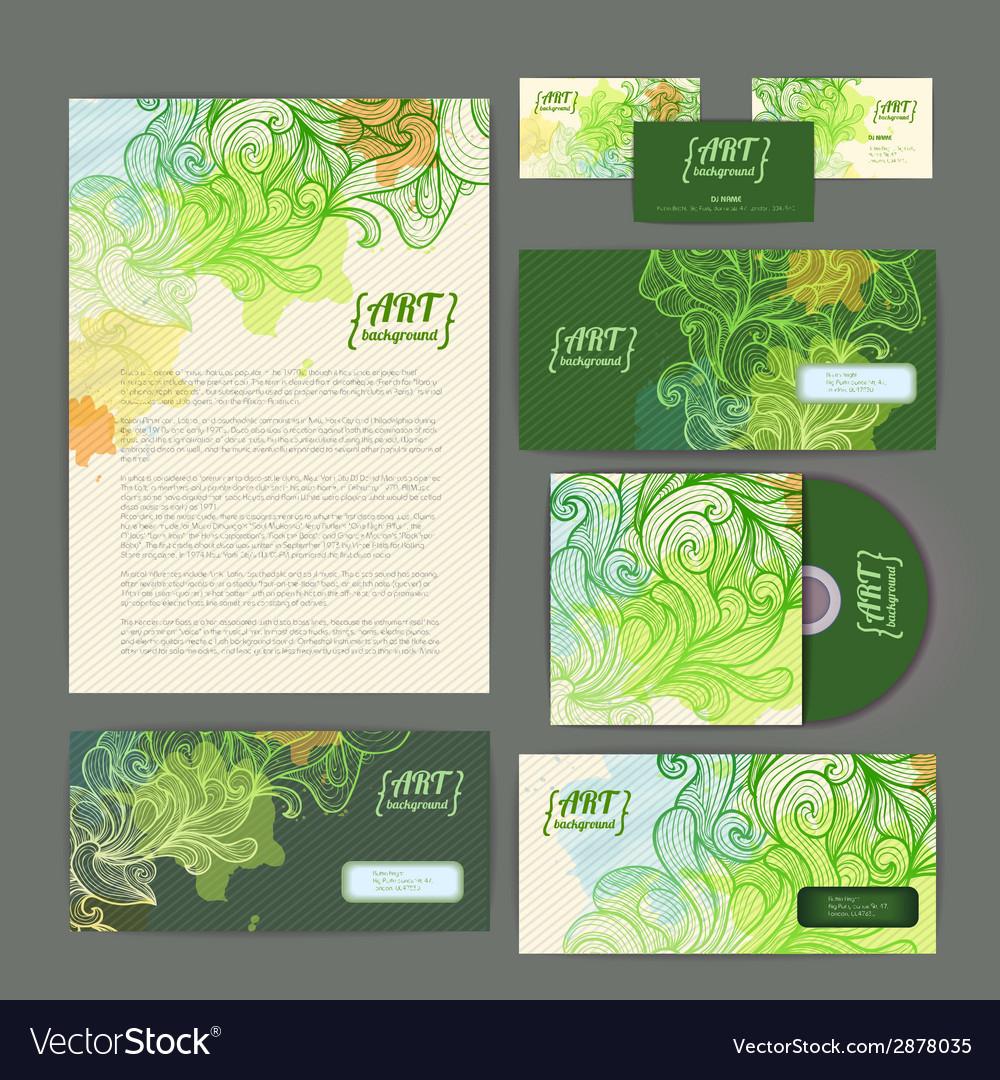 Decorative corporate identity artistic ornament vector | Price: 1 Credit (USD $1)