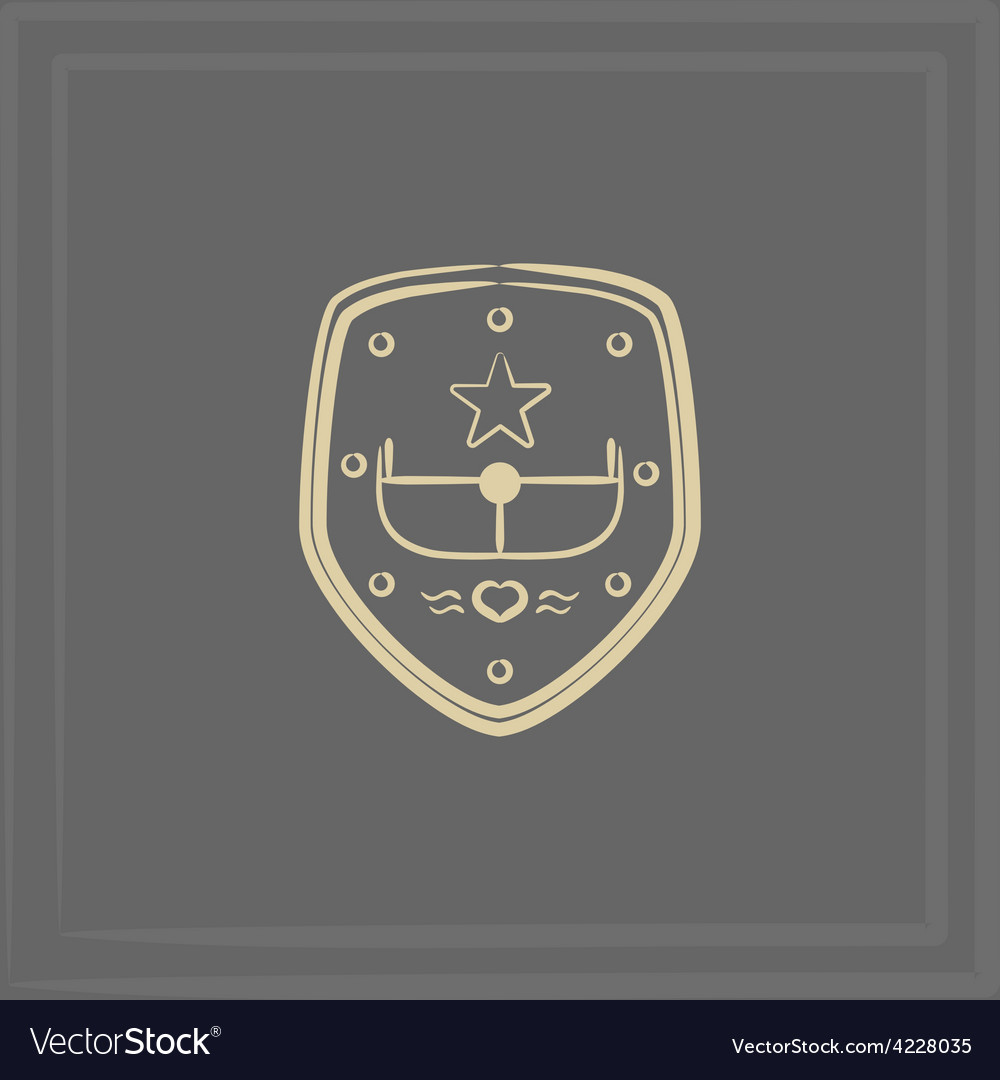 Emblem of an airplane vector | Price: 1 Credit (USD $1)