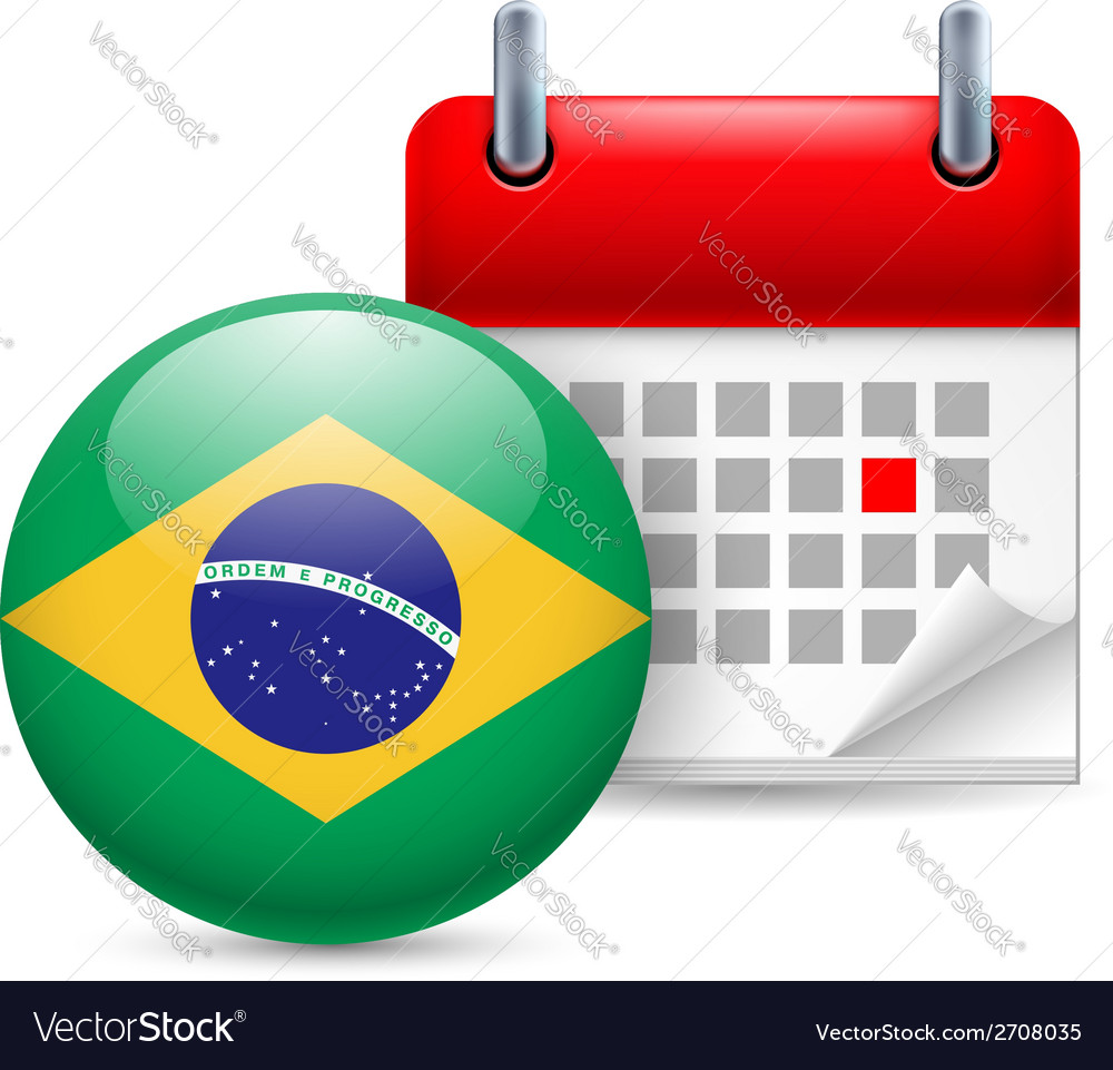 Icon of national day in brazil vector   Price: 1 Credit (USD $1)