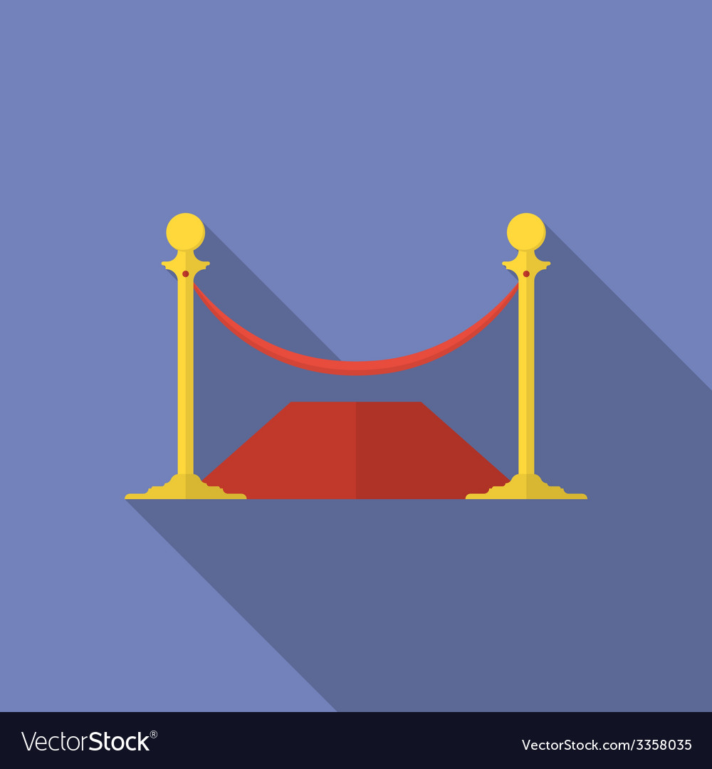 Icon of rope barrier flat style vector | Price: 1 Credit (USD $1)
