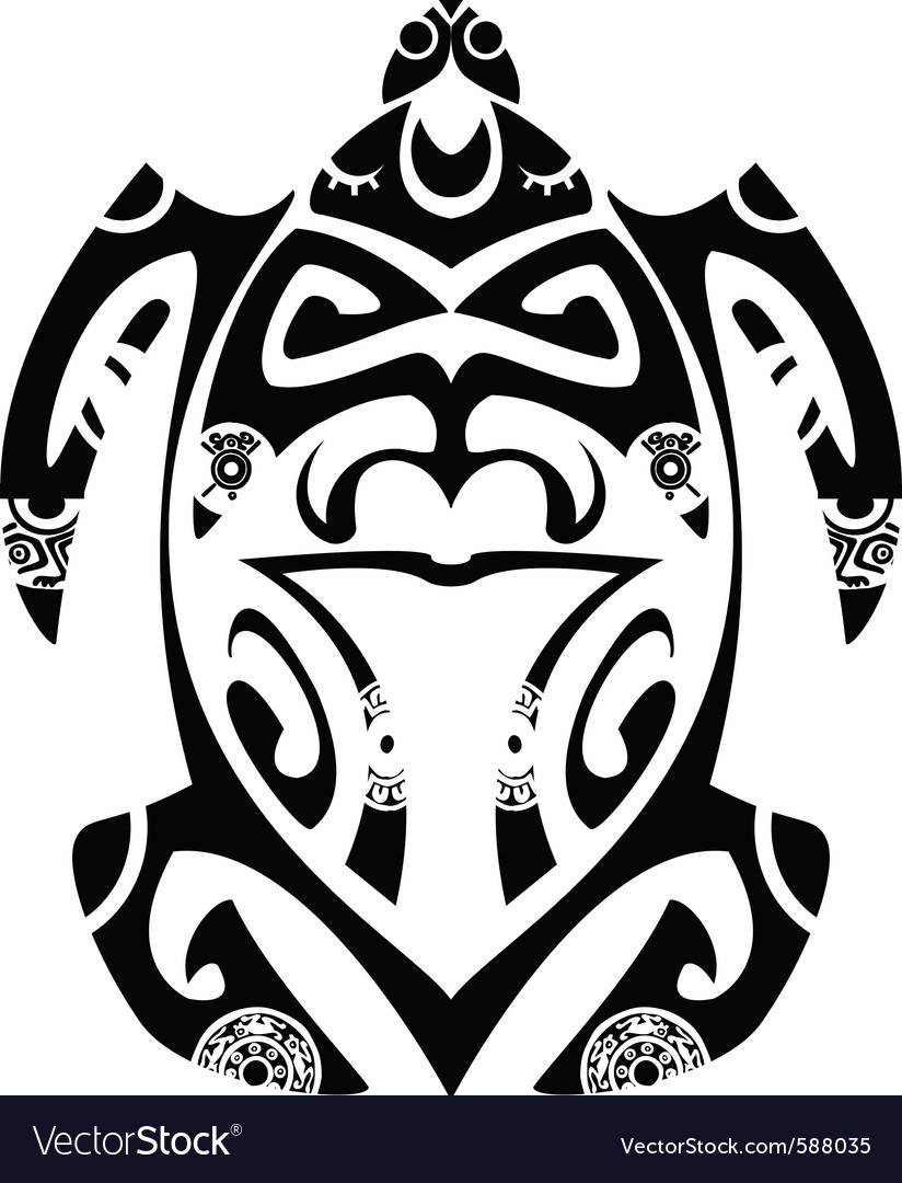Maori tribal turtle vector | Price: 1 Credit (USD $1)