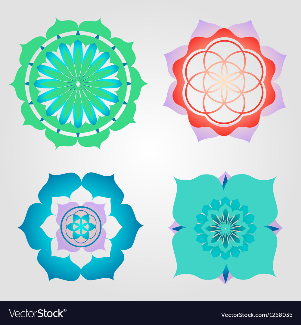 Mini mandalas set vector | Price: 1 Credit (USD $1)