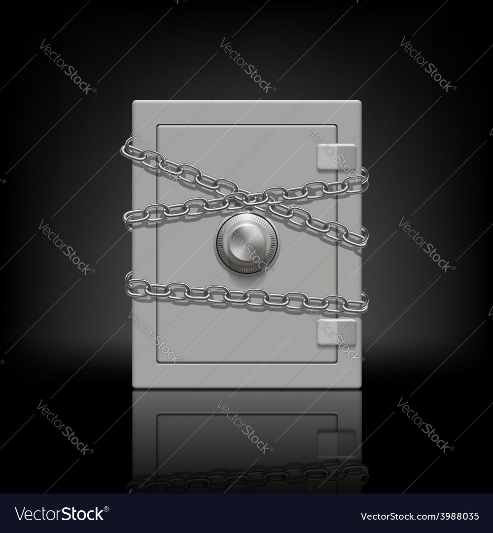 Safe wrapped metal chain vector | Price: 1 Credit (USD $1)