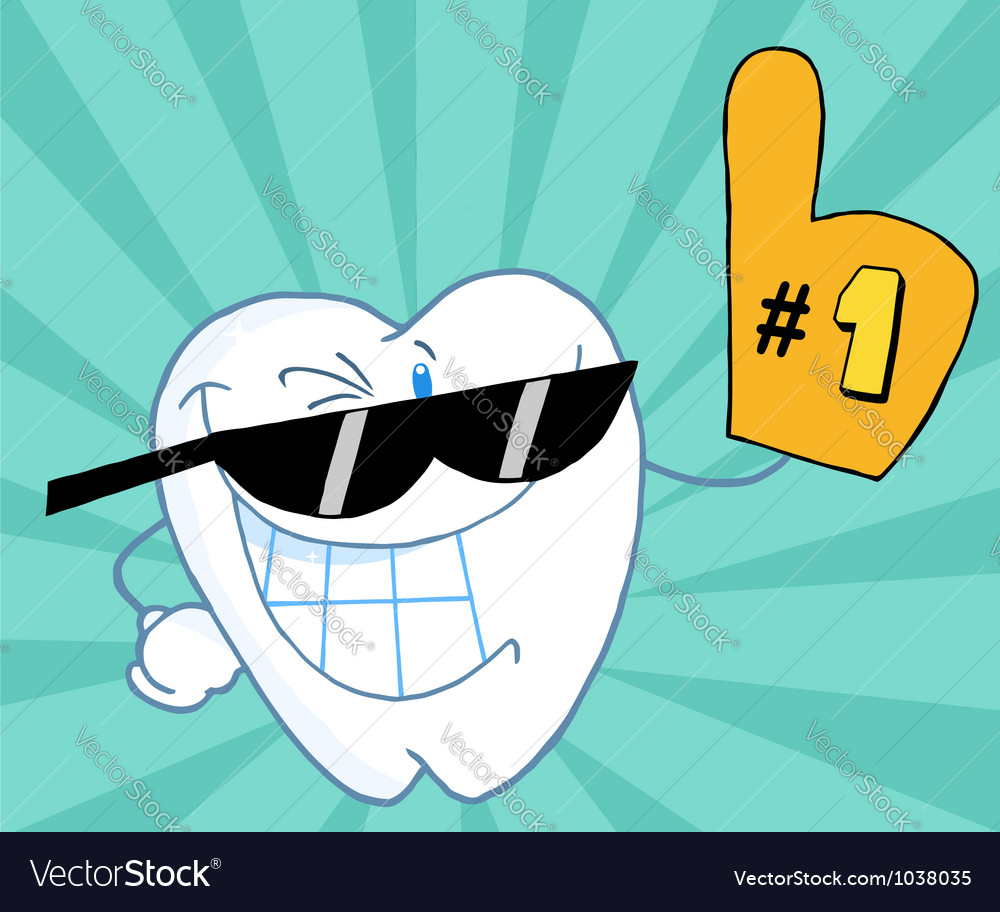 Smiling tooth number one vector | Price: 1 Credit (USD $1)