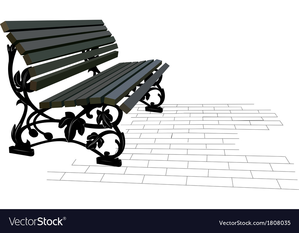 Street bench vector | Price: 1 Credit (USD $1)