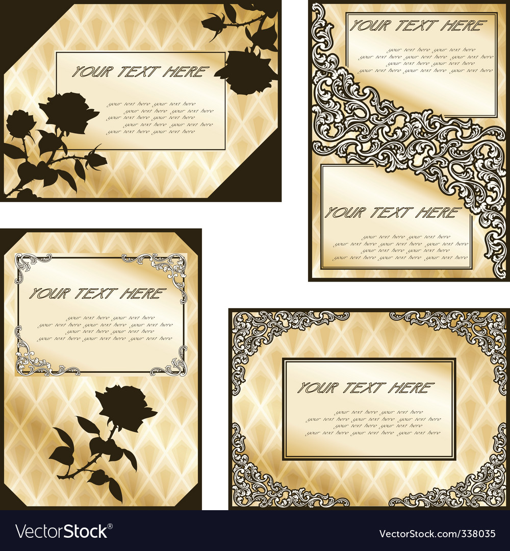 Victorian designs vector | Price: 1 Credit (USD $1)