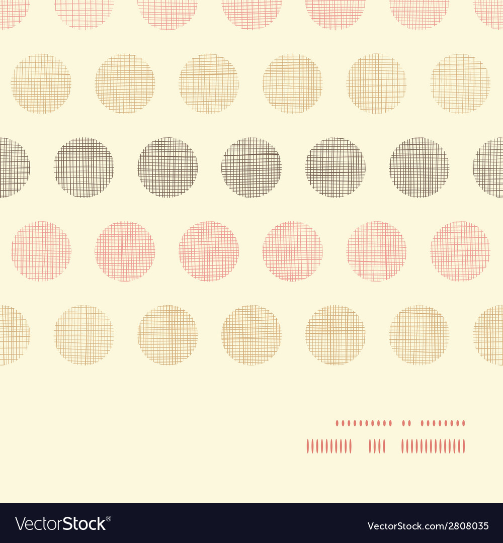 Vintage textile polka dots horizontal frame vector | Price: 1 Credit (USD $1)