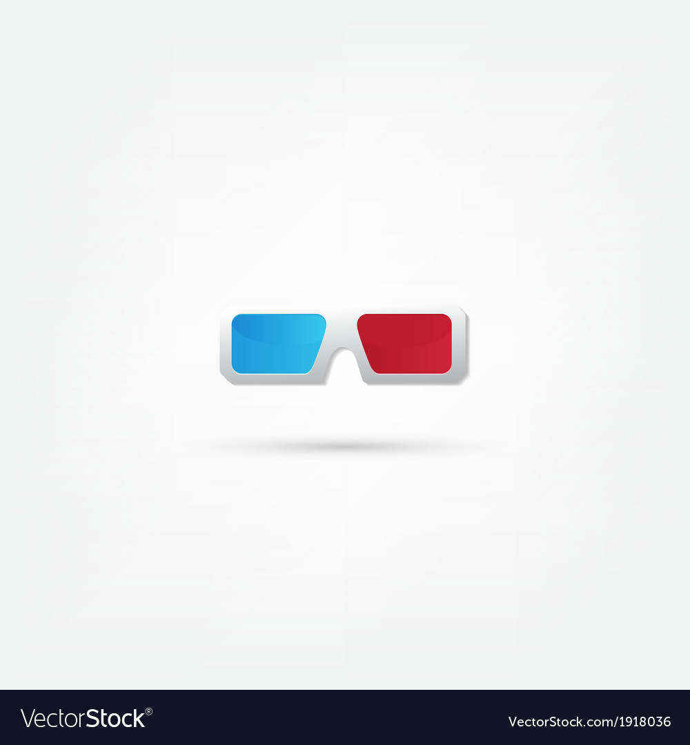 3d glasses icons vector | Price: 1 Credit (USD $1)