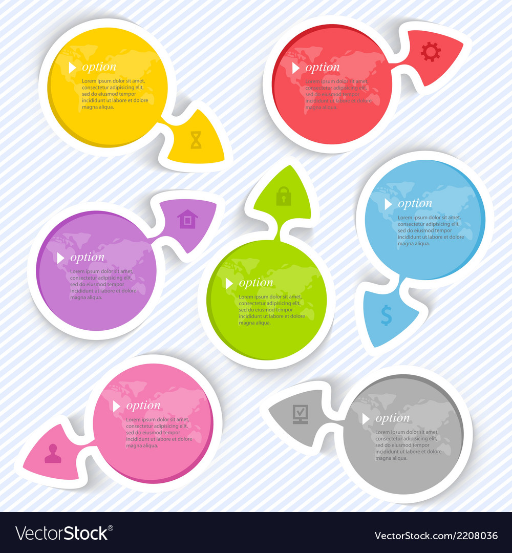 Abstract arrows elements for infographic vector | Price: 1 Credit (USD $1)