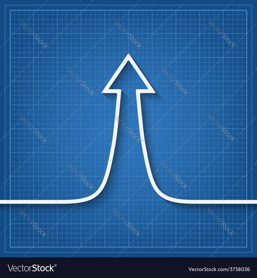 Arrow up sign vector | Price: 1 Credit (USD $1)