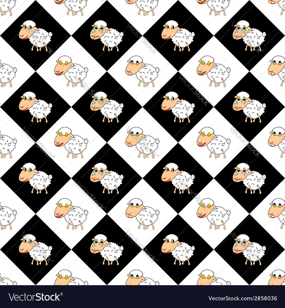 Design children background with funny sheep vector | Price: 1 Credit (USD $1)