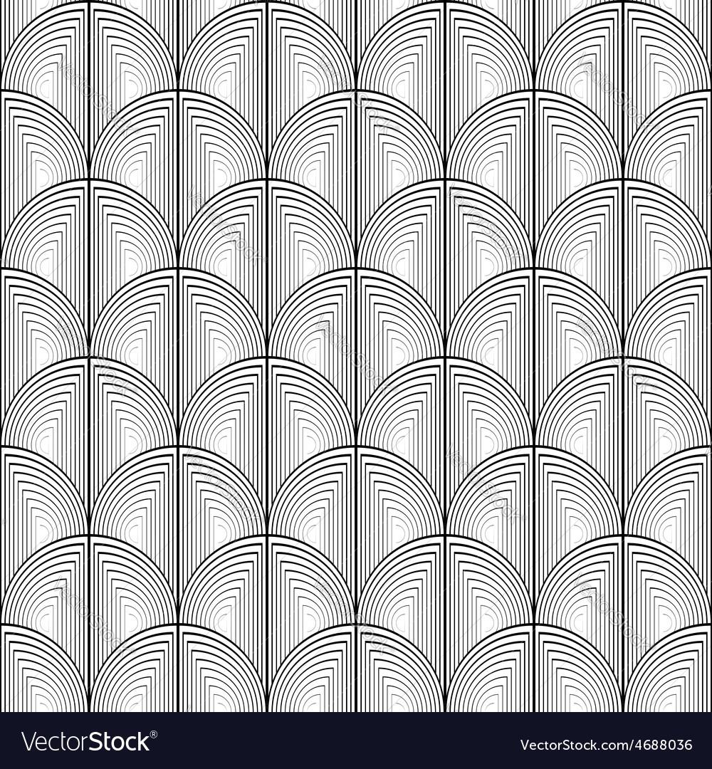 Design seamless monochrome circle lines pattern vector | Price: 1 Credit (USD $1)