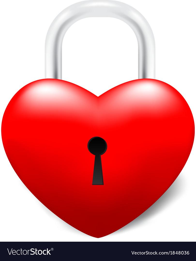 Grossy locked heart vector | Price: 1 Credit (USD $1)